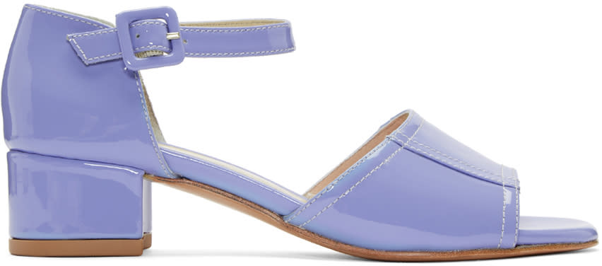 Maryam Nassir Zadeh Purple Patent Leather Alexandra Sandals