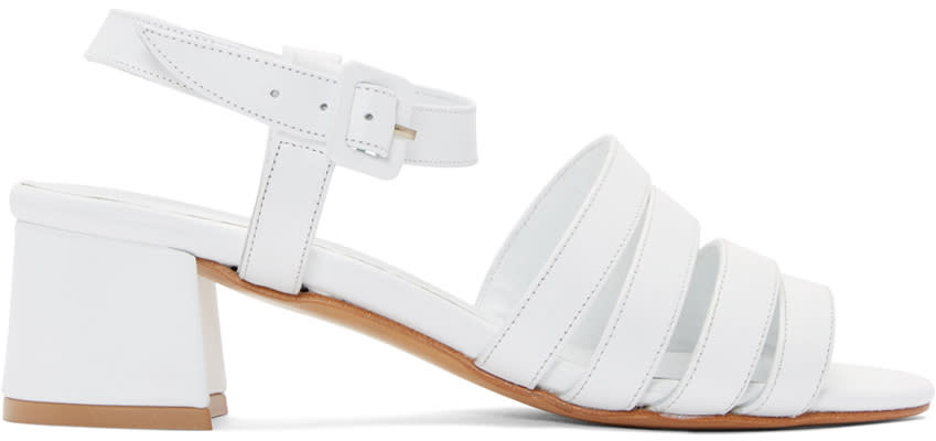 Maryam Nassir Zadeh White Palma Low Sandals