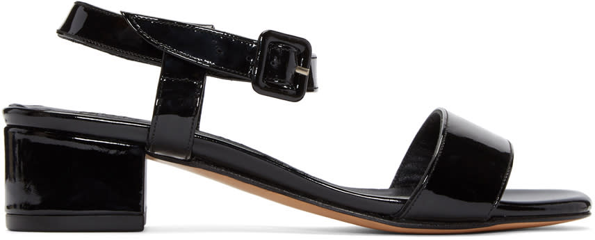 Maryam Nassir Zadeh Black Patent Leather Sophie Sandals