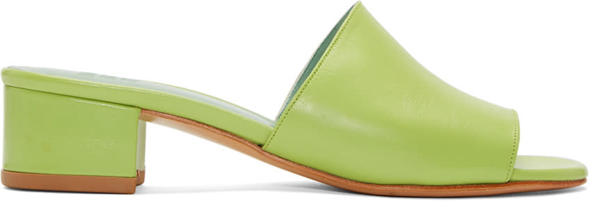 Maryam Nassir Zadeh Green Sophie Slide Sandals