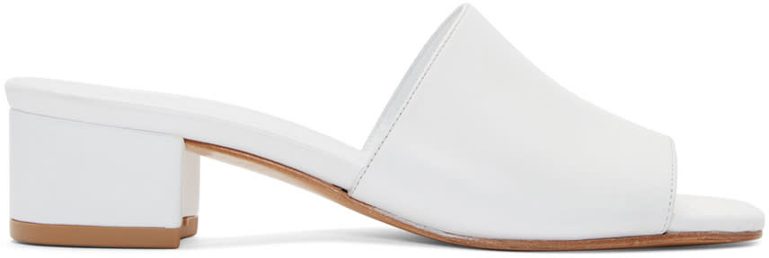 Maryam Nassir Zadeh White Sophie Slide Sandals