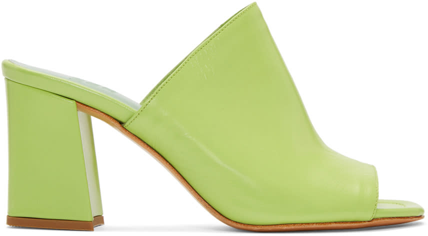 Maryam Nassir Zadeh Green Penelope Slide Sandals