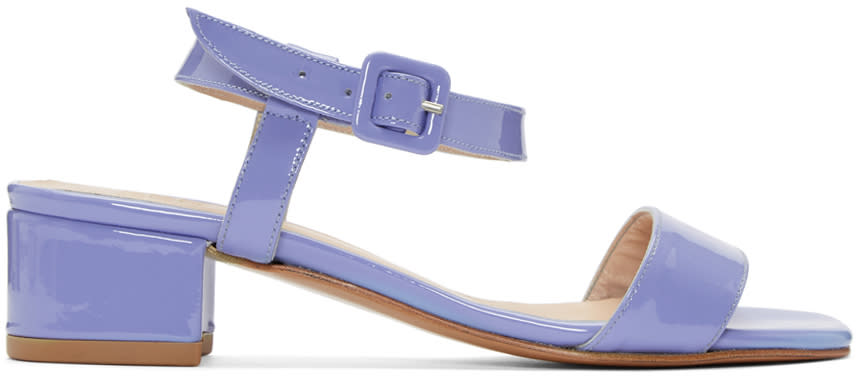 Maryam Nassir Zadeh Purple Patent Leather Sophie Sandals