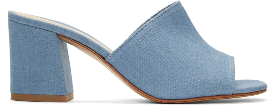 Image of Maryam Nassir Zadeh Blue Denim Mar Mules