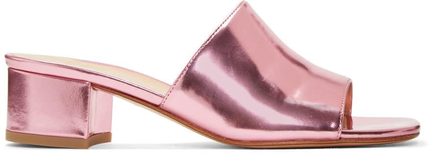 Maryam Nassir Zadeh Pink Sophie Slide Sandals