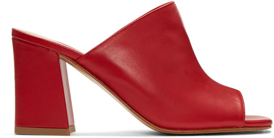Maryam Nassir Zadeh Red Penelope Slide Sandals