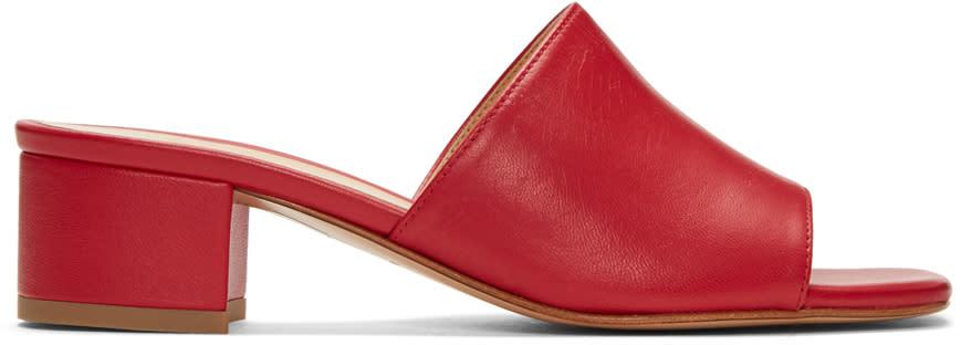Maryam Nassir Zadeh Red Sophie Slide Sandals