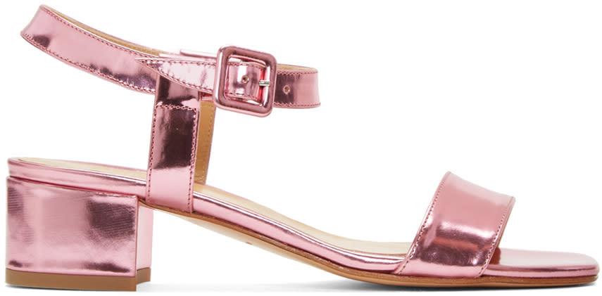 Maryam Nassir Zadeh Pink Sophie Buckle Sandals