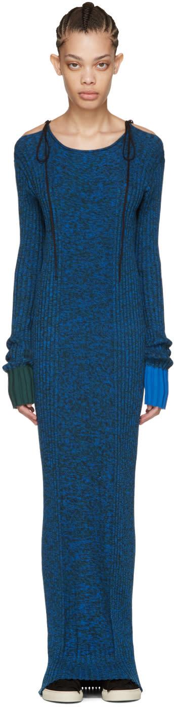 Ports 1961 Blue Long Sleeve Knit Dress