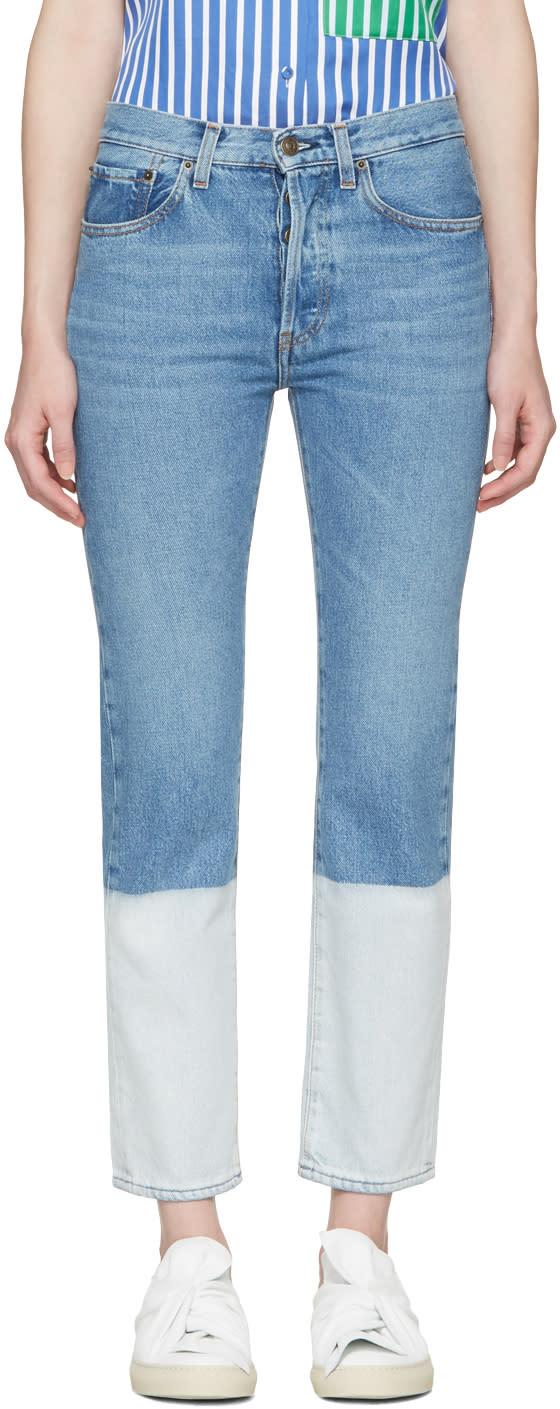 Ports 1961 Blue Two-tone Jeans