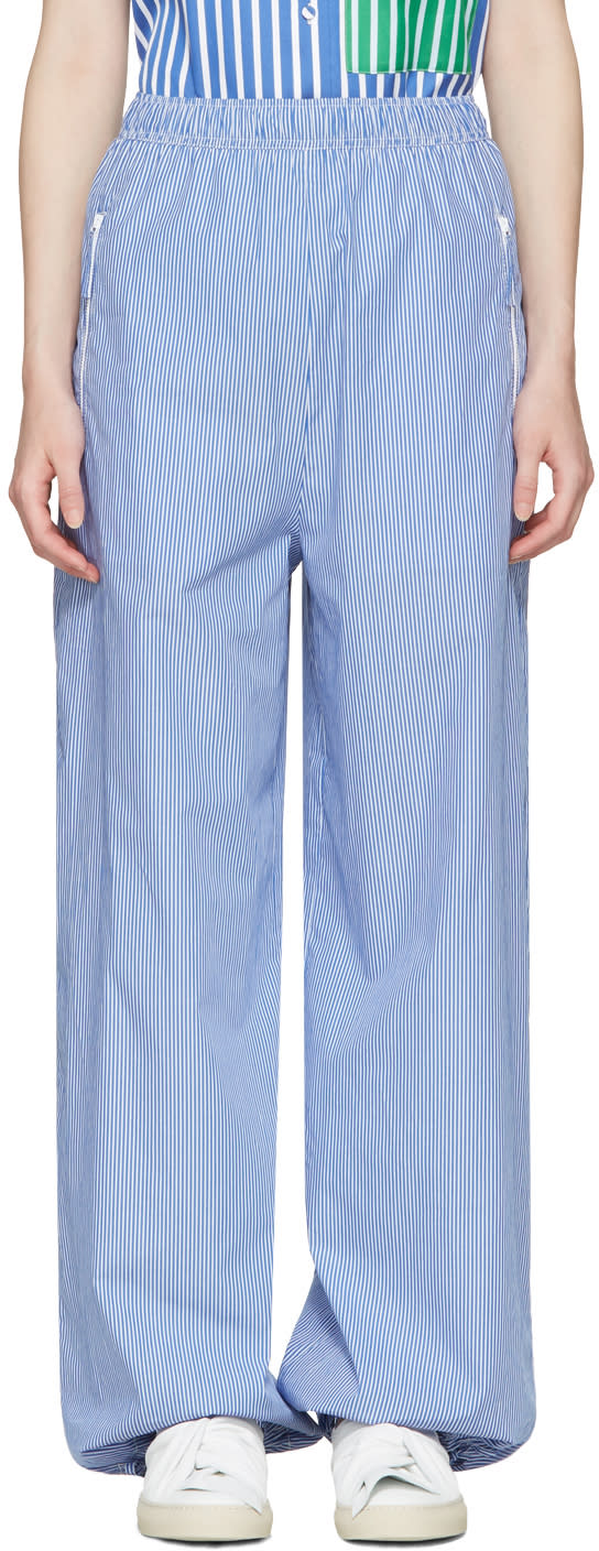 Ports 1961 Blue Striped Trousers