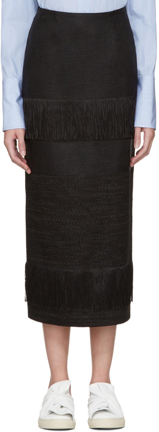 Ports 1961 Black Fringed Skirt