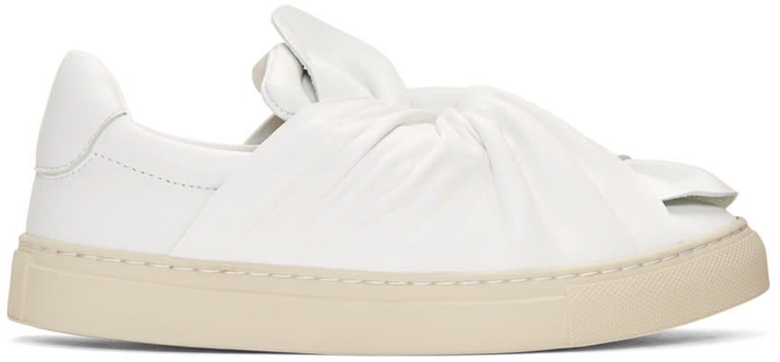 Ports 1961 White Bow Slip-on Sneakers