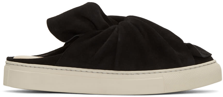 Ports 1961 Black Suede Bow Slip-on Sneakers