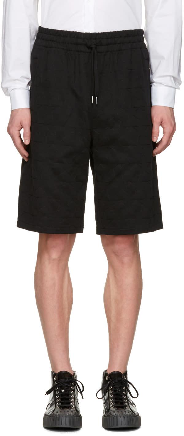 Ports 1961 Black Embroidered Stars Shorts