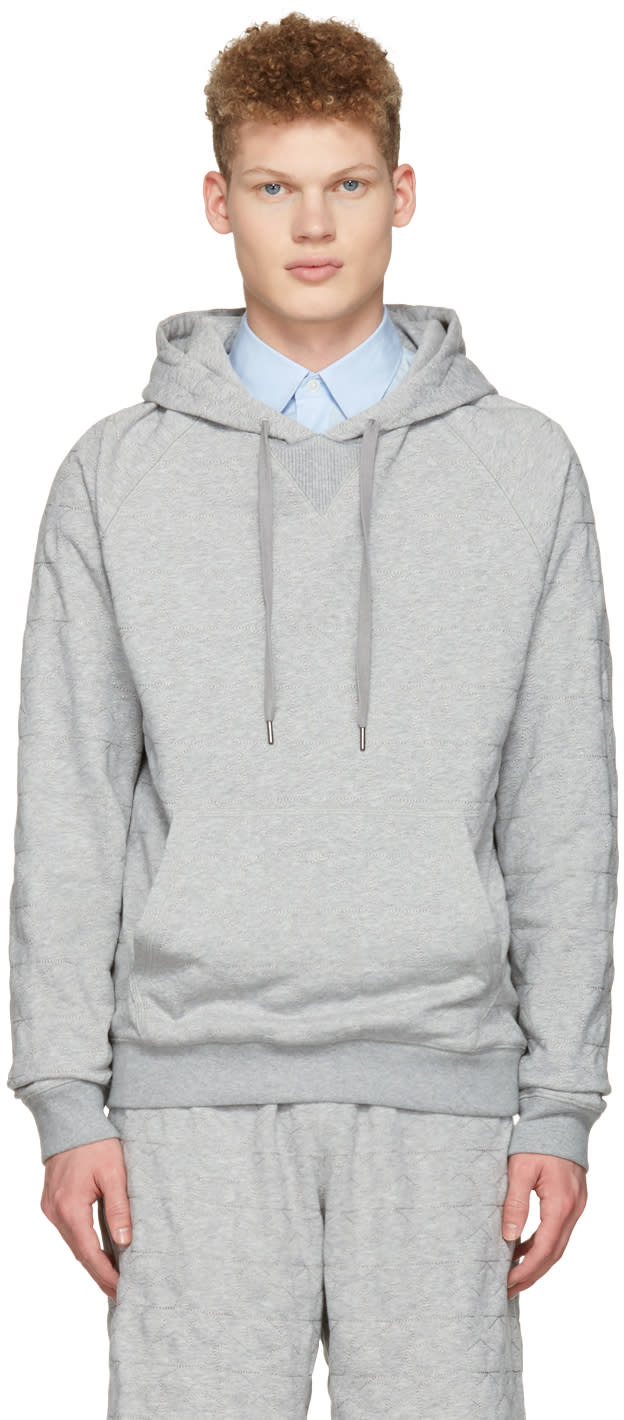 Ports 1961 Grey Embroidered Stars Hoodie