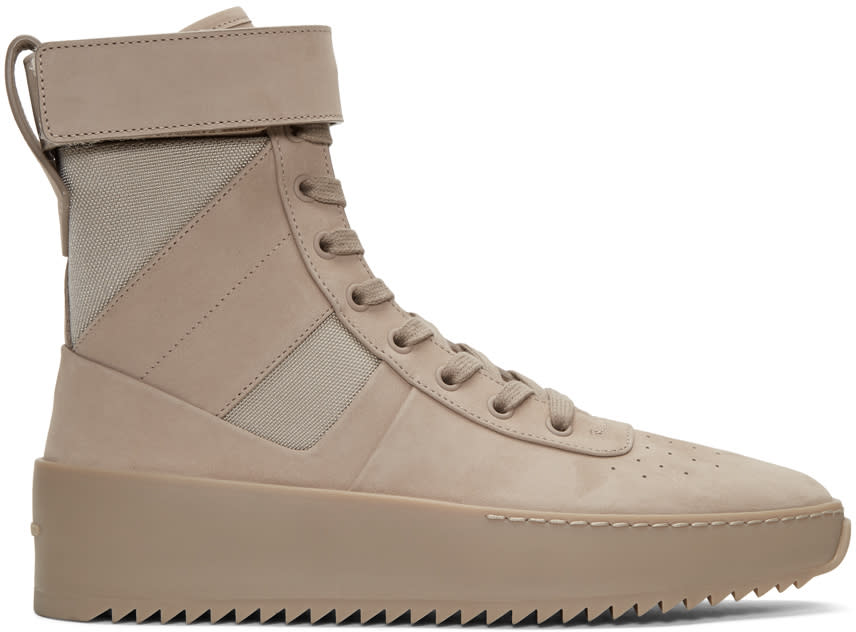 Fear Of God Beige Military High-top Sneakers