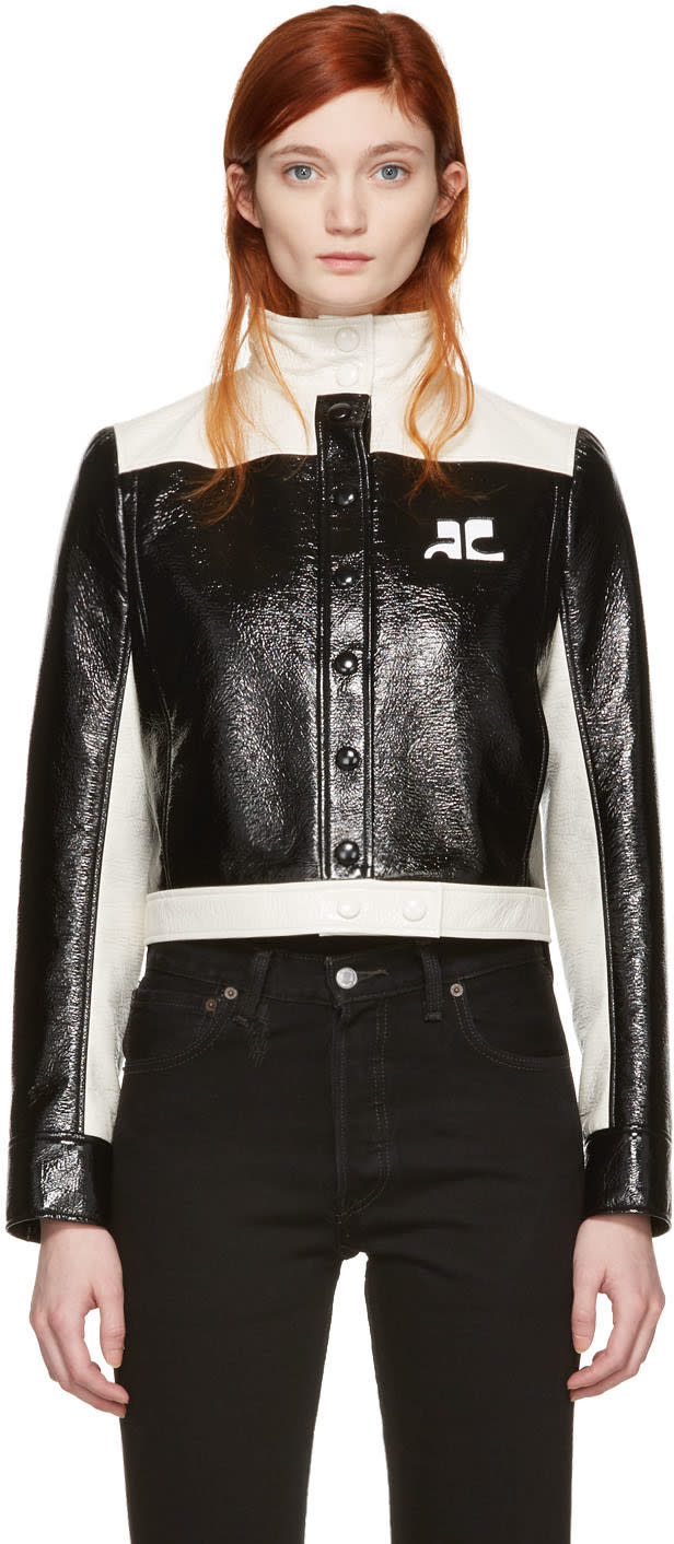 Courreges Black Short Logo Jacket