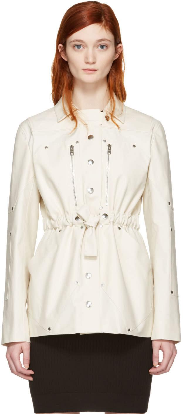 Image of Courrèges Ivory Belt Zip Jacket