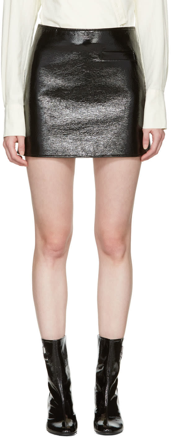 Courreges Black Vinyl Miniskirt