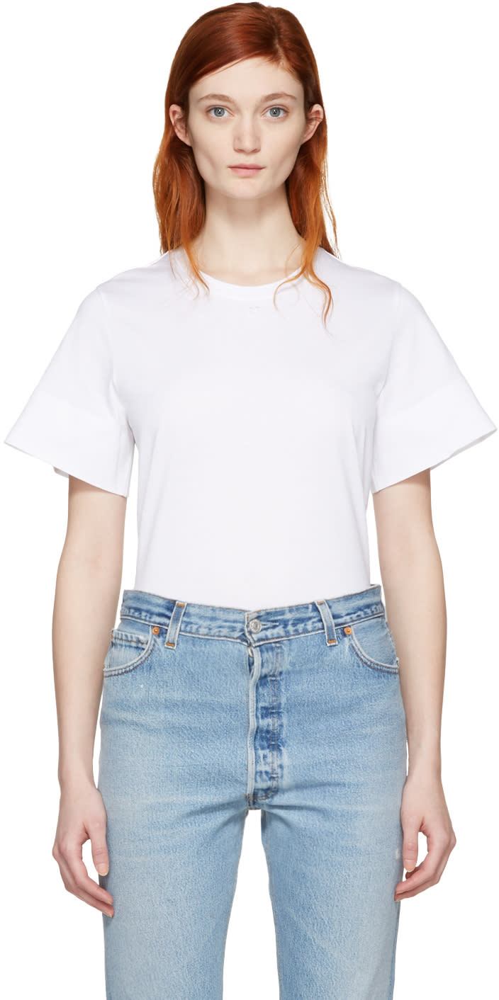 Courreges White Crewneck T-shirt