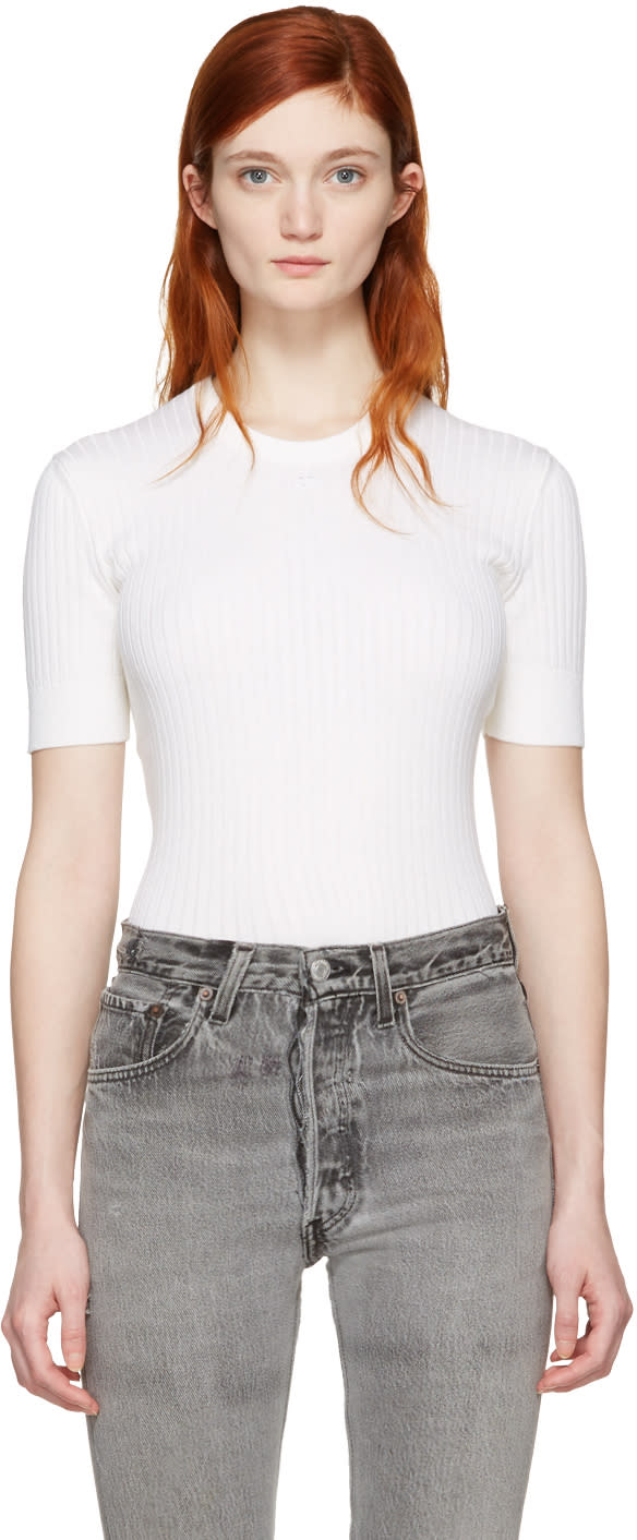 Image of Courrèges White Classic Pullover