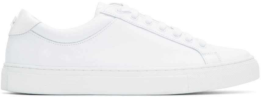 Courreges White Leather Logo Sneakers