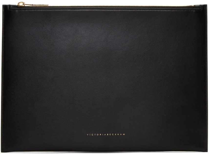 Victoria Beckham Black Large Simple Pouch