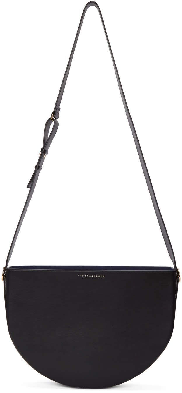 Victoria Beckham Black Small Half Moon Bag