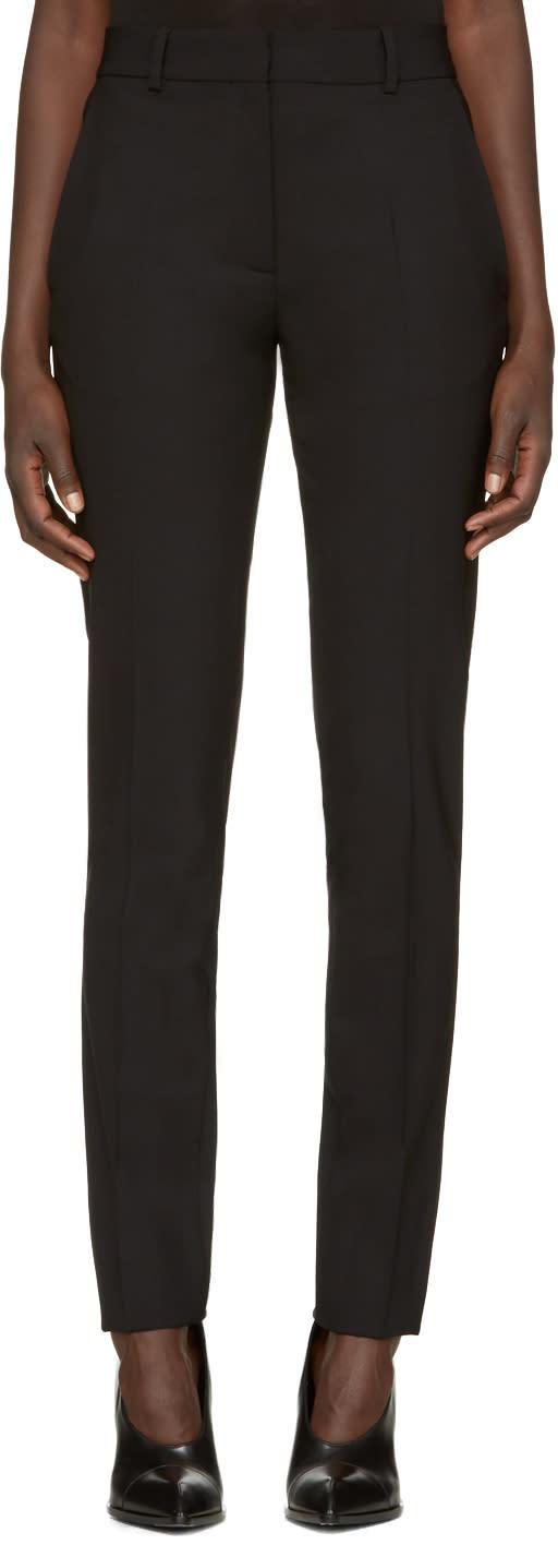 Image of Victoria Beckham Black Wool Slim Trousers
