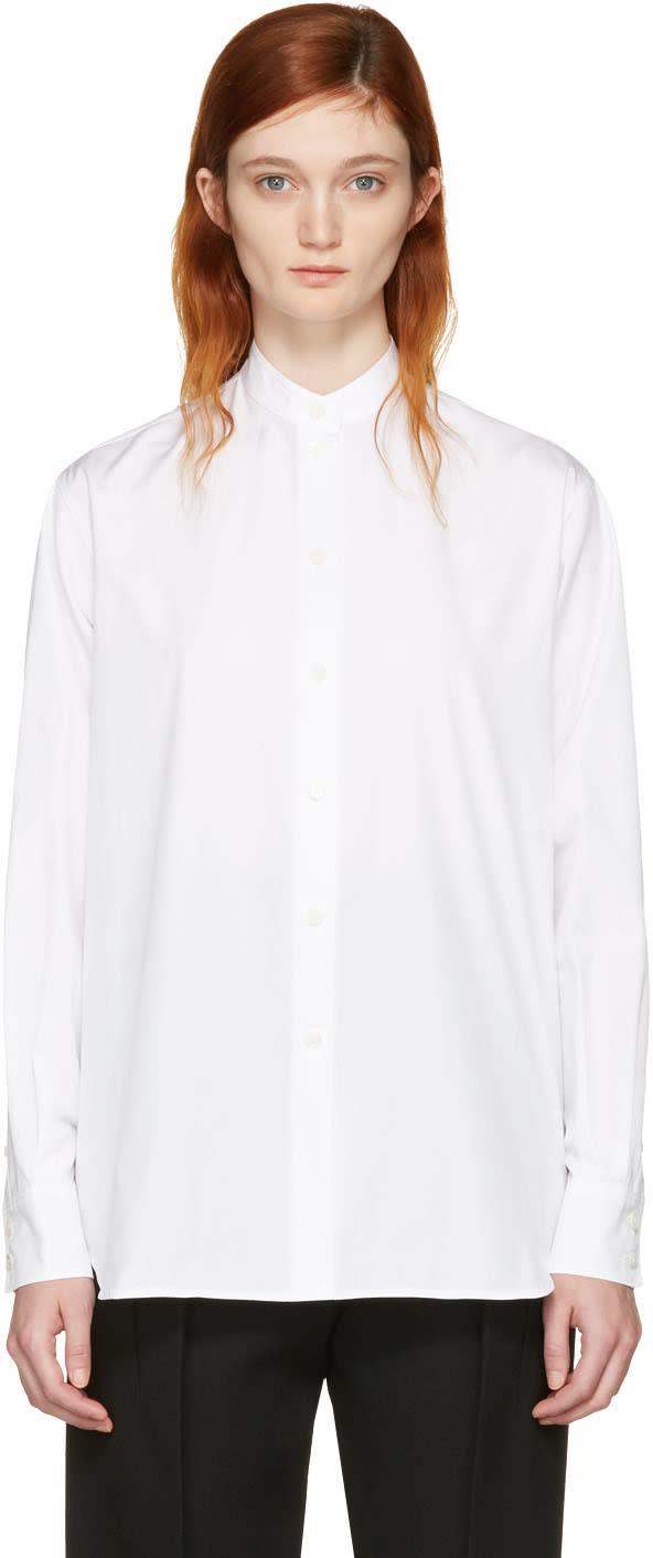 Victoria Beckham White Grandad Shirt
