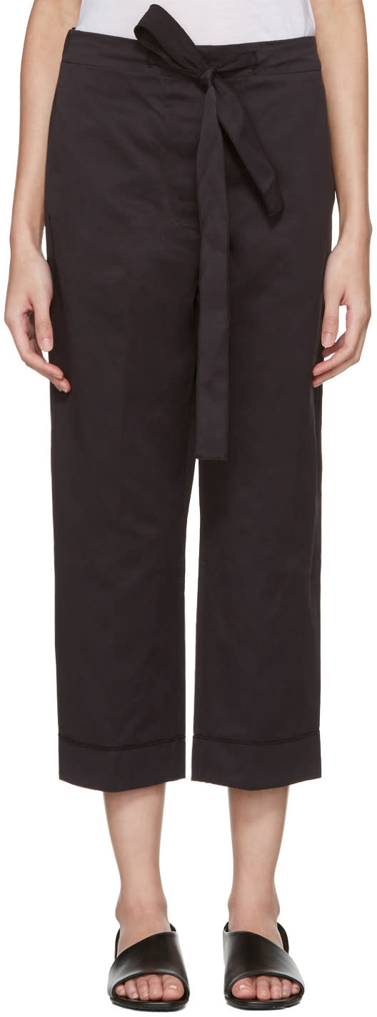 Sara Lanzi Black Satin Trousers