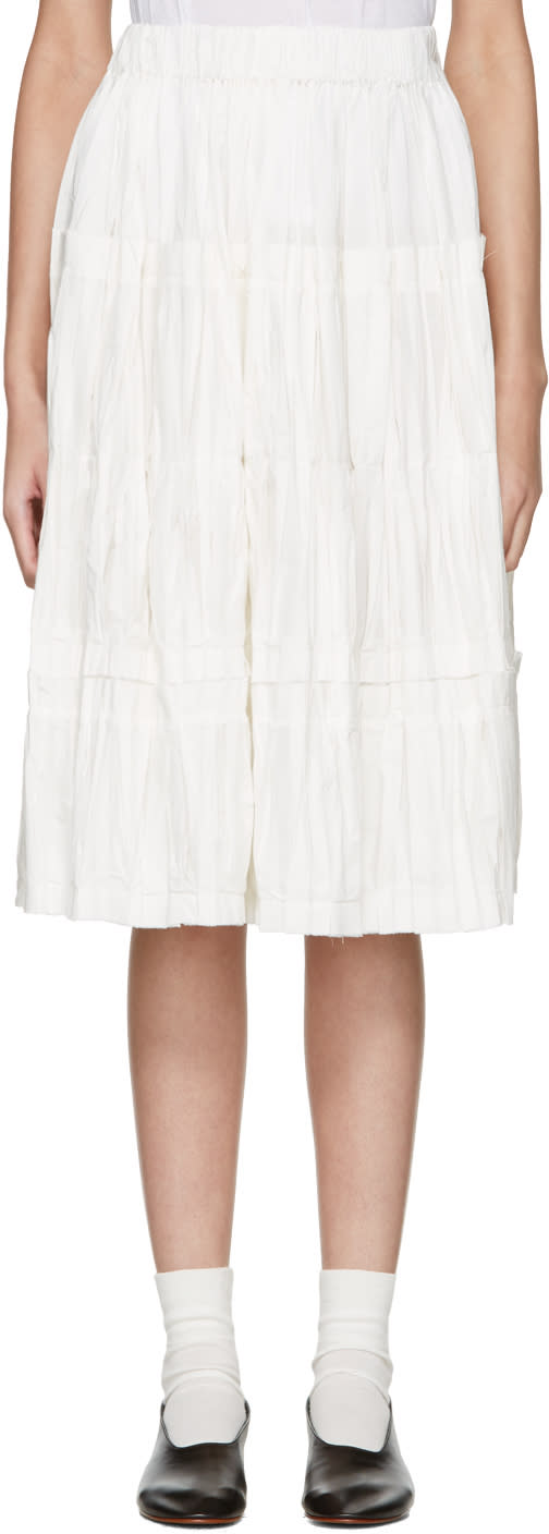 Sara Lanzi Off-white Panel Skirt