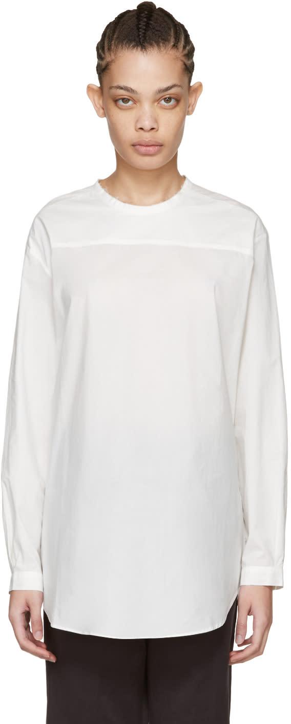 Image of Sara Lanzi White Oversized Poplin Blouse
