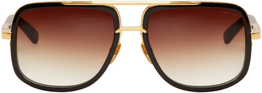 Dita Black Mach-one Aviator Sunglasses