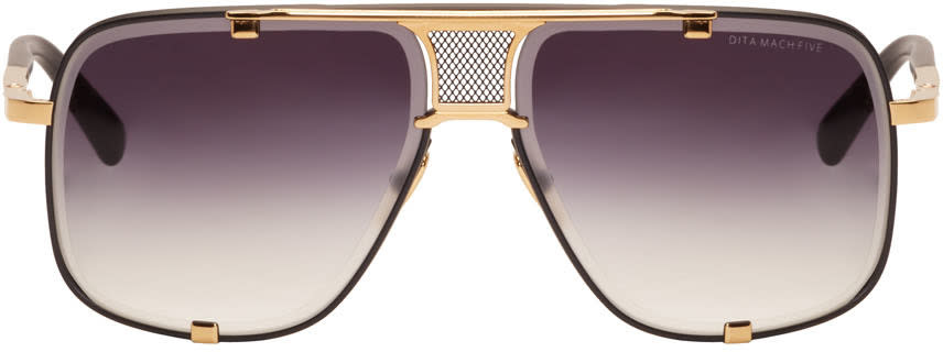 Image of Dita Black Mach-five Sunglasses