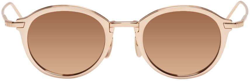 Thom Browne Gold Tb 110 Sunglasses