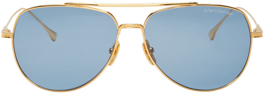 Dita Gold 18k Flight 004 Aviator Sunglasses