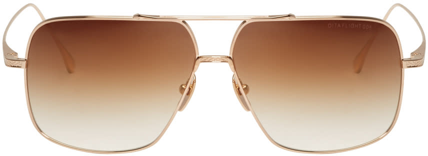 Dita Gold Flight 005 Aviator Sunglasses
