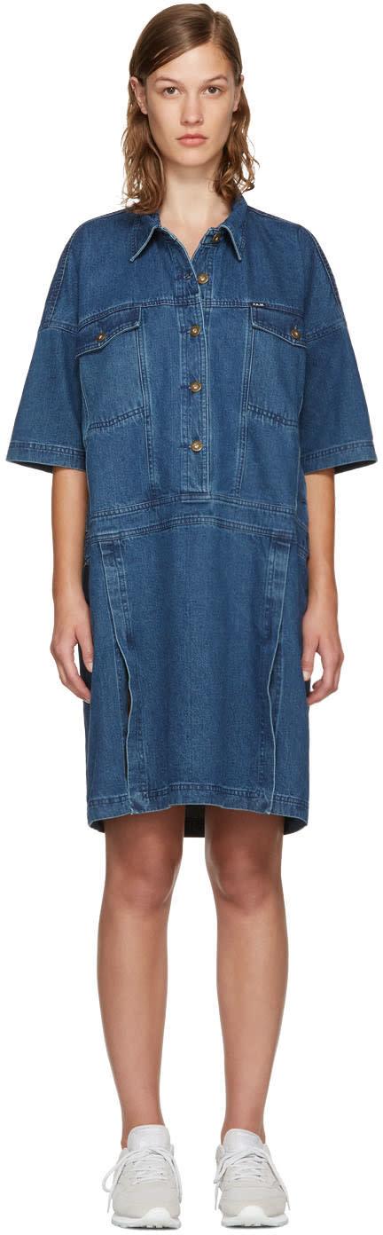 Perks And Mini Indigo Denim Nagovisi Dress