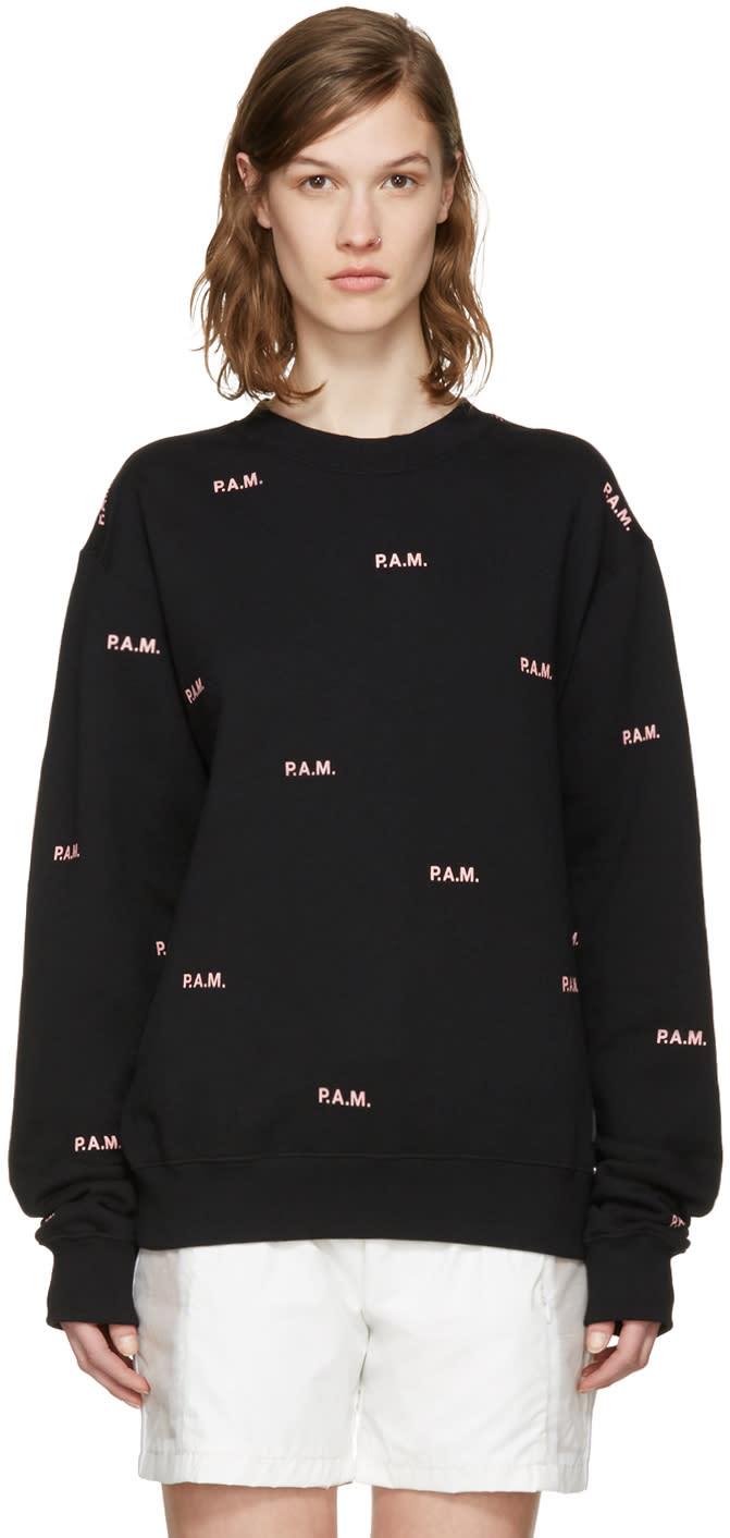 Perks And Mini Black Allover Logo Pullover