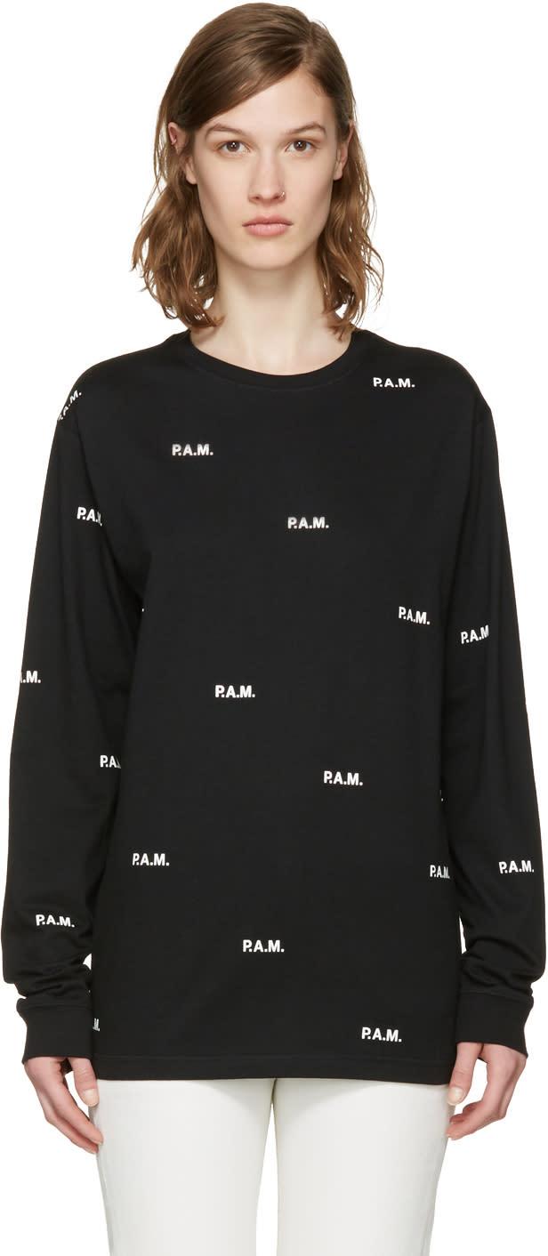 Perks And Mini Black Allover Logo T-shirt