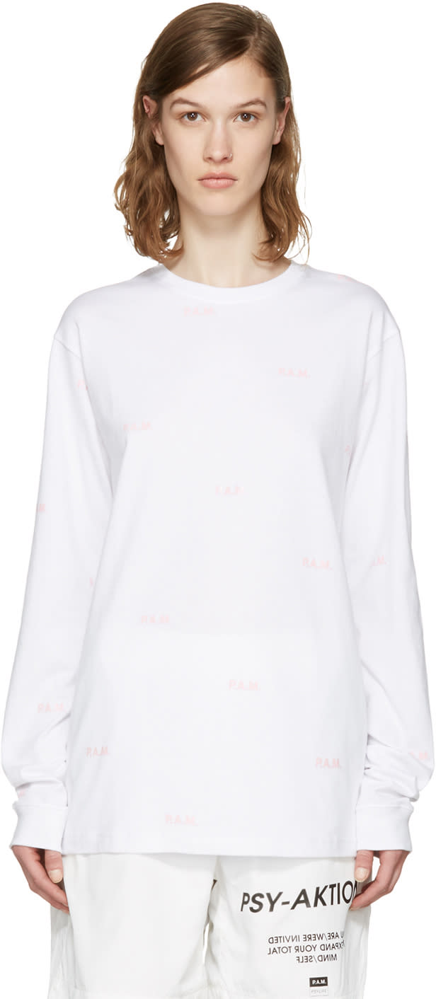 Perks And Mini White Allover Logo T-shirt