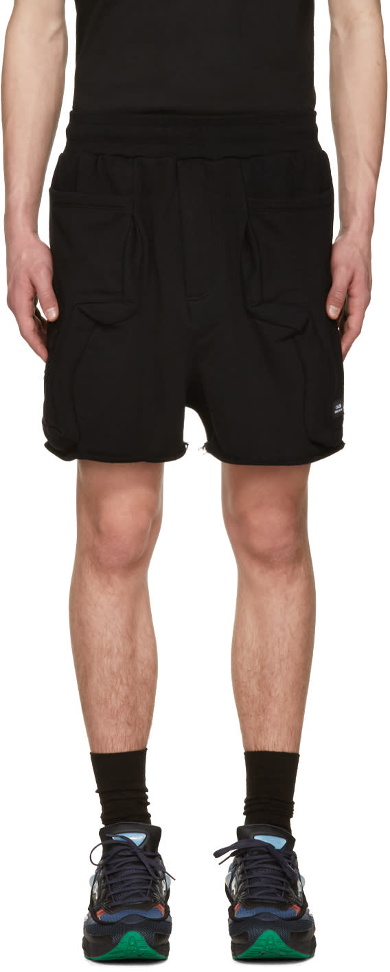 Image of Perks And Mini Black Anarchaic Duplo Shorts