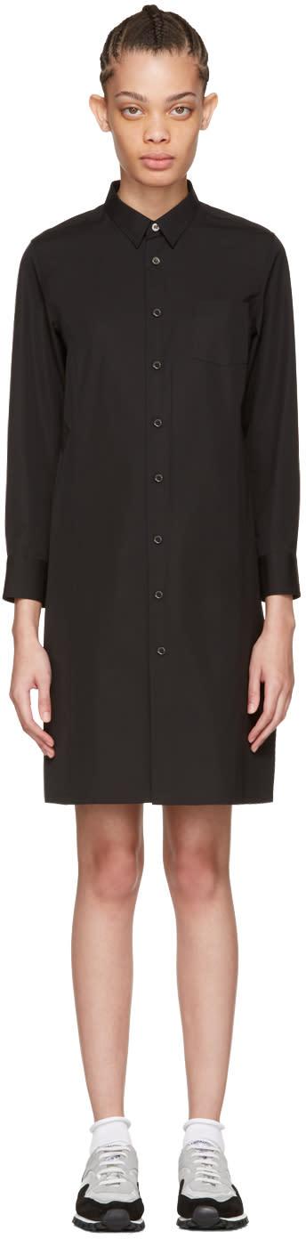 Tricot Comme Des Garcons Black Poplin Shirt Dress