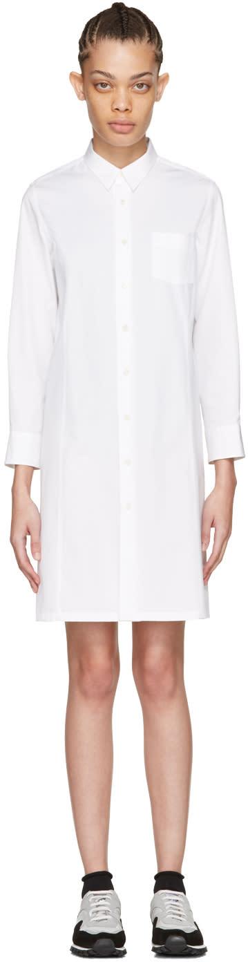 Tricot Comme Des Garcons White Poplin Shirt Dress