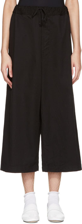 Tricot Comme Des Garcons Black Drawstring Trousers