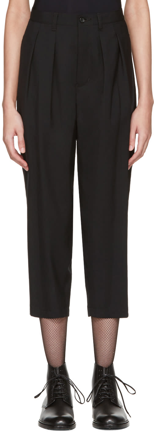 Tricot Comme Des Garcons Black Overdyed Trousers