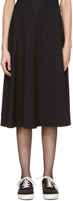 Tricot Comme Des Garcons Black Asymmetric Skirt