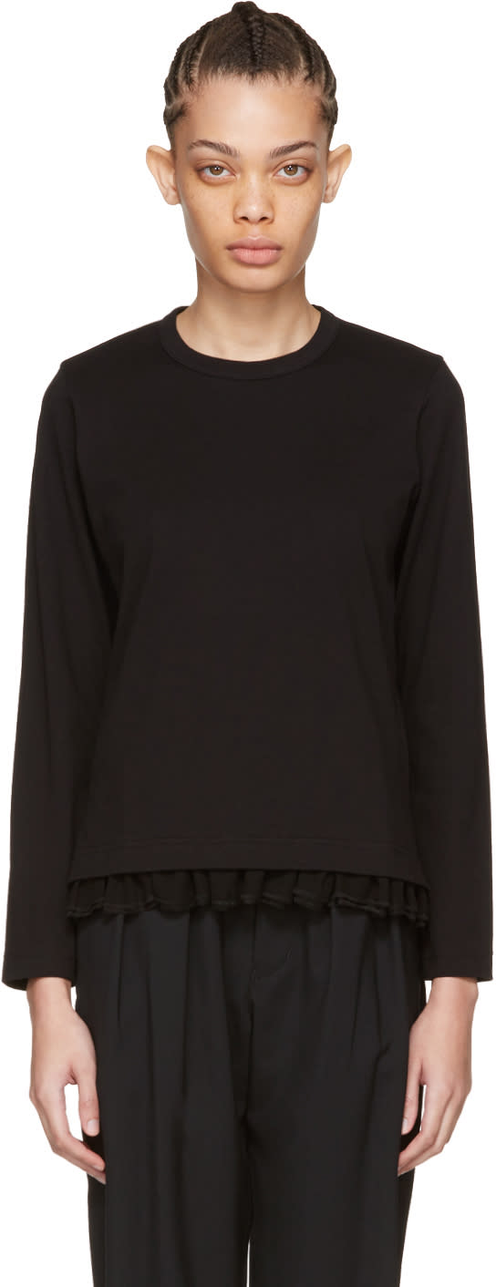 Tricot Comme Des Garcons Black Frill T-shirt